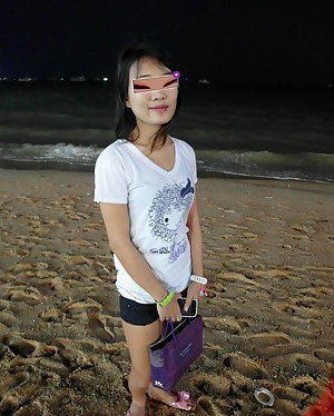 Beach Asian Teen