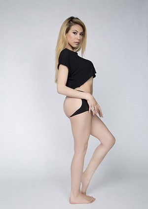 Blonde Asian Teen