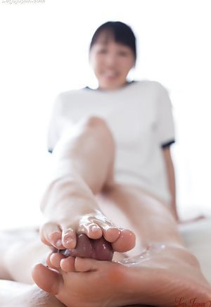 Footjob Asian Teen