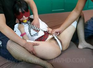 Blindfold Asian Teen